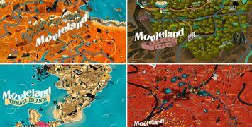 Bientôt Noël (eh oui) : Movieland se décline en quatre superbes cartes